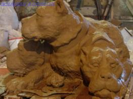 Бетонные скульптуры, скульптура цербера