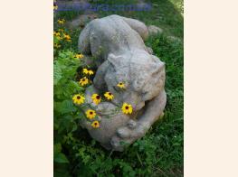 Парковая фигура пантеры фото