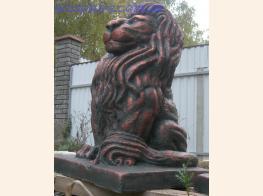 Фото фигуры льва тонировка медь
