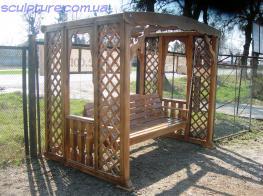 Качели деревянные фото 2