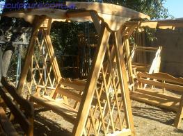 Деревянные качели фото 2