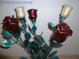 Розы метал фото 1
