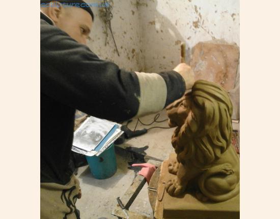 Фото 6 изготовление глиняной модели