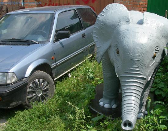 Садовая фигура слона фото 2
