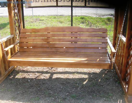 Качели деревянные фото 5