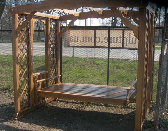 Качели деревянные фото 3