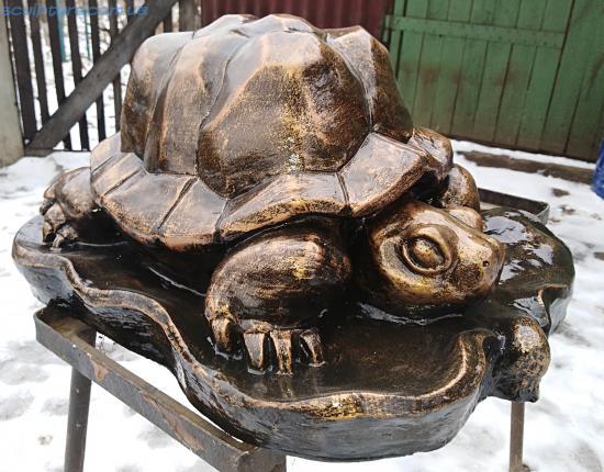 Фото черепаха из бетона